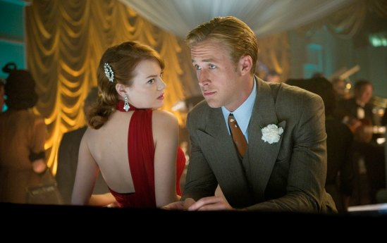 Ryan Gosling and Emma Stone in The Gangster Squad