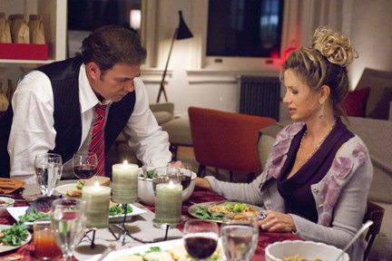 Michael Rispoli as Nick and Mira Sorvino as Lucy in ``Union Square.''
