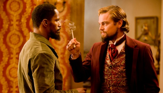 Leonardo Di Caprio and Jamie Foxx in Django Unchained