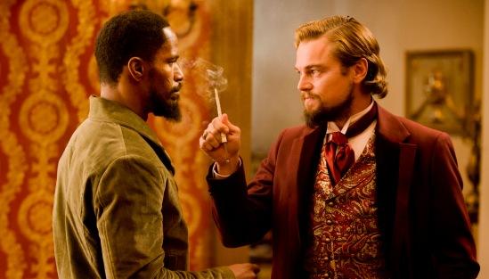 Leonardo Di Caprio and Jamie Foxx in Django Unchained