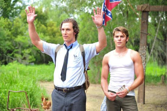 Zac Efron and Matthew McConaughey in The Paperboy