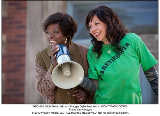 Maggie Gyllenhaal and Viola Davis in Won't Back Down